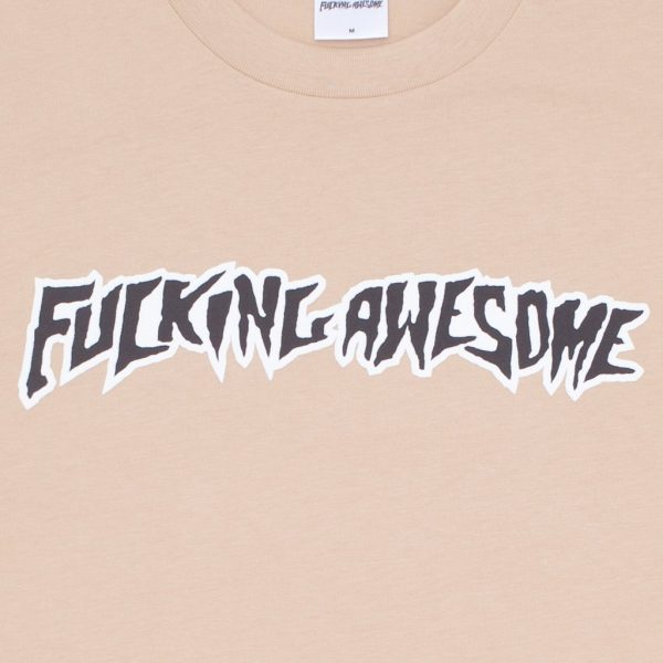 Fucking-Awesome-Puff-Outline-Logo-Tee-Khaki