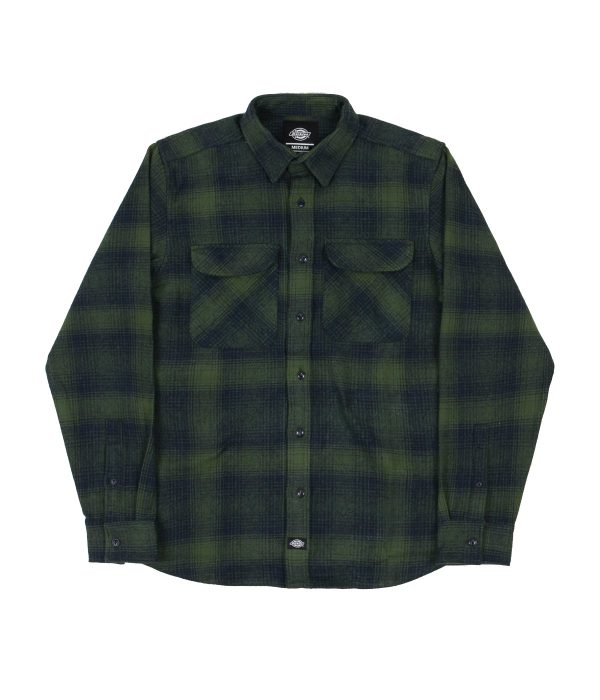 dickies-plesent-hill-shirt-army-green