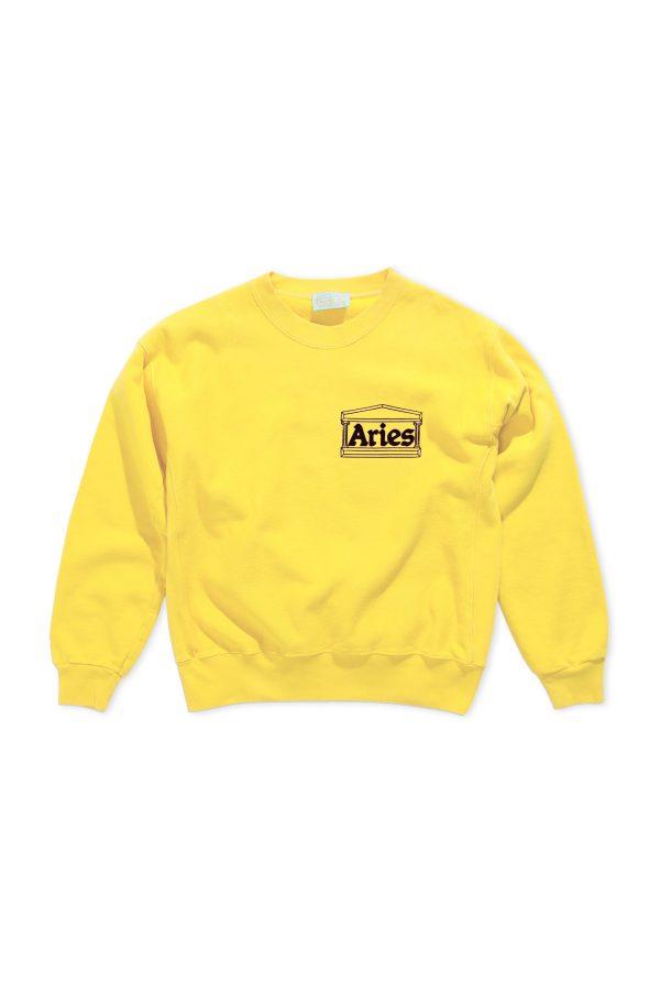 Aries-Classic-Temple-Sweatshirt-yellow