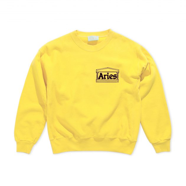 Aries-Classic-Temple-Sweatshirt-yellow