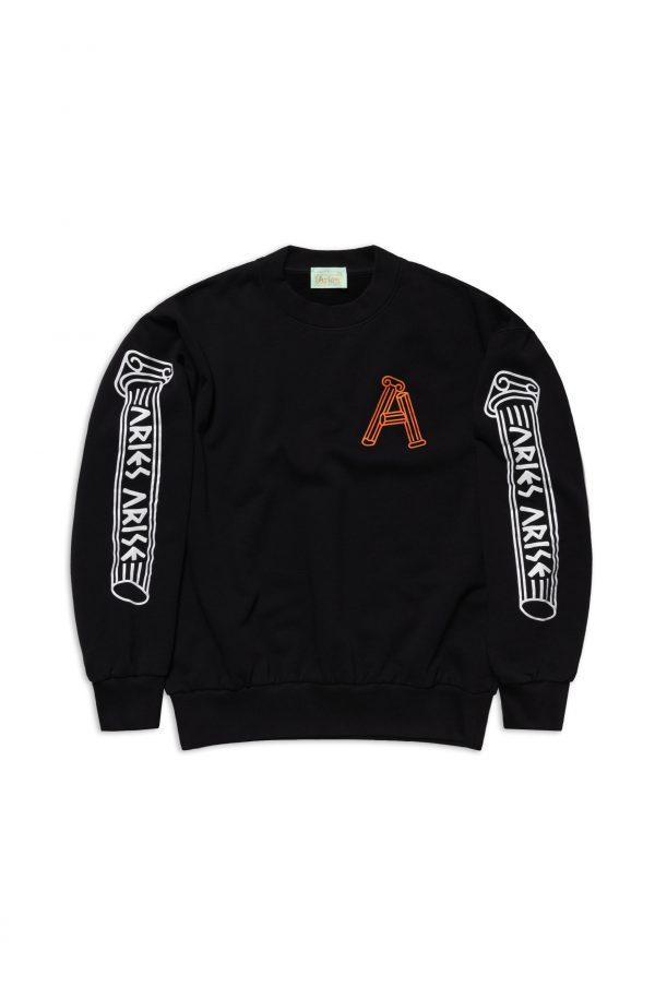 Aries-Greek-Column-Sweatshirt-black
