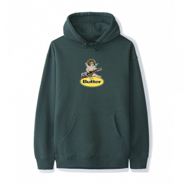butter-goods-Angel-Badge-Pullover-Hood-Forest-Green