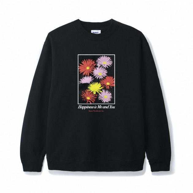 butter-goods-Happiness Crewneck Black