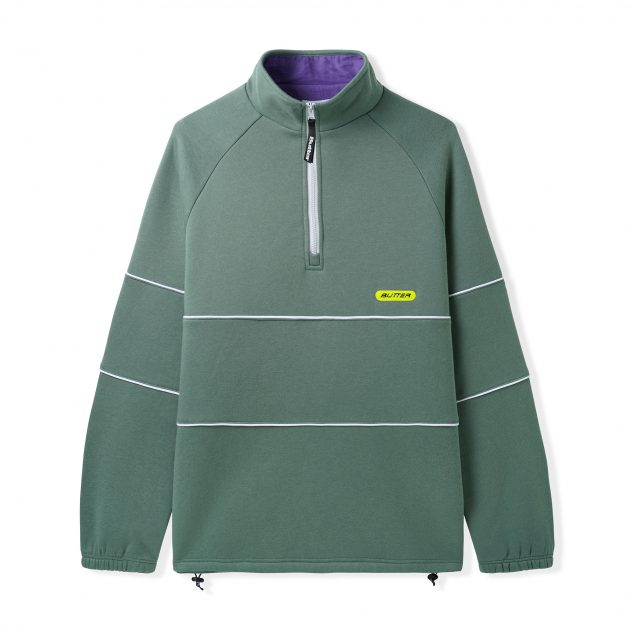 butter-goods-Piping-1_4-Zip Pullover- Spruce