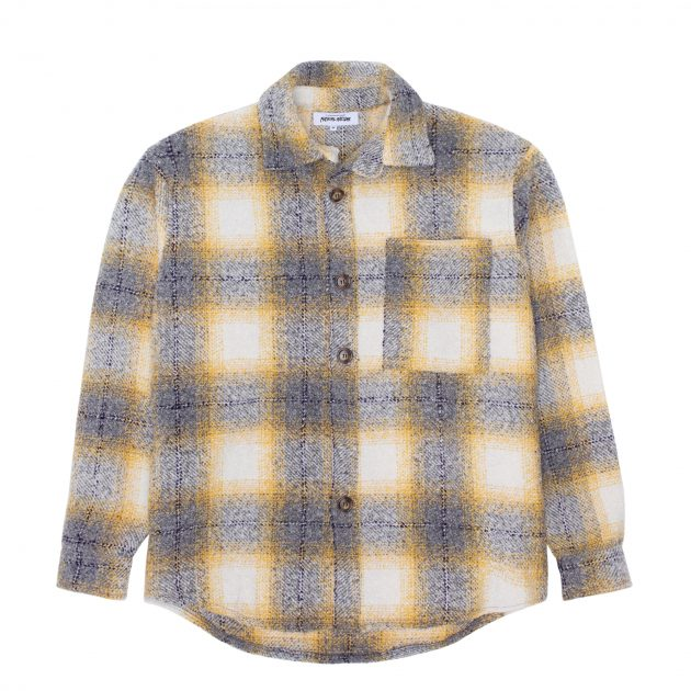 2021_FA_FallWinter_GraphicDetail_Apparel_HeavyOversizedFlannel_YellowGrey_Front